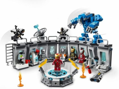 lego marvel avengers iron man hall of armor pieces
