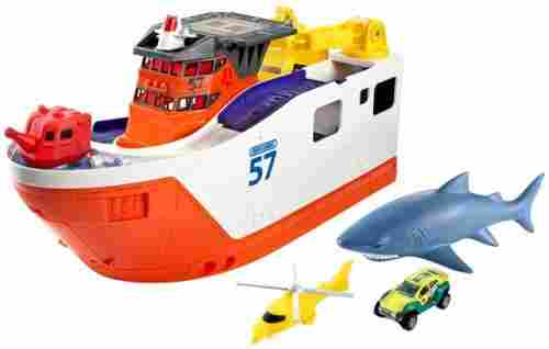 matchbox mission marine rescue shark ship