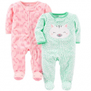 simple joys carter's baby girls pajamas 2-pack two pack