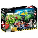 playmobil ghostbusters slimer hot dog stand box