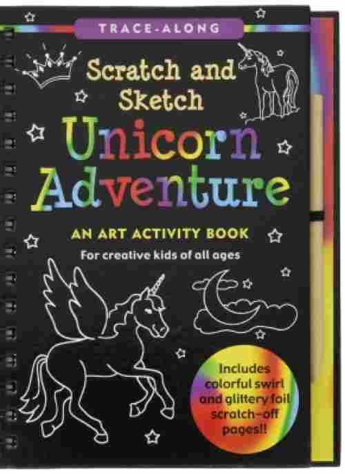 Unicorn Adventure Scratch and Sketch best activity book for kids