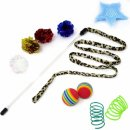 youngever 24 feather teaser cat toy