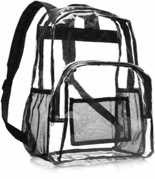 Amazon Basics Clear School backpack