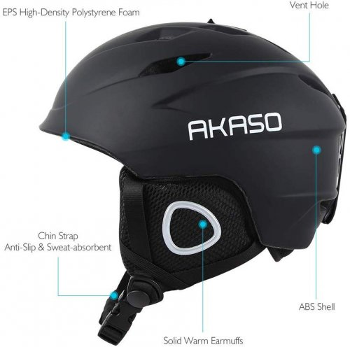 akaso kids ski helmet features