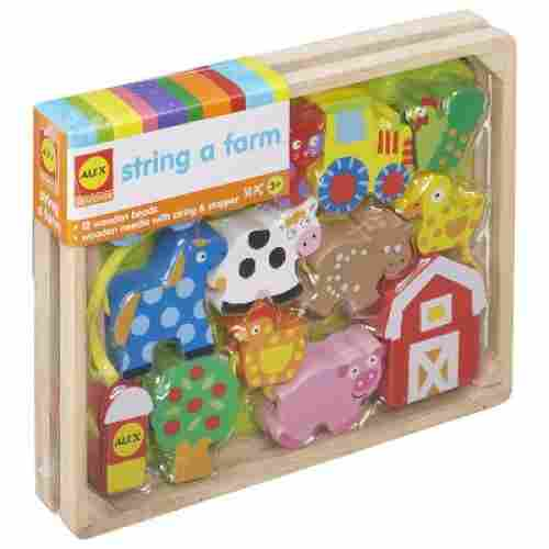 alex toys little hands string a farm learning toys for kids and toddlers box