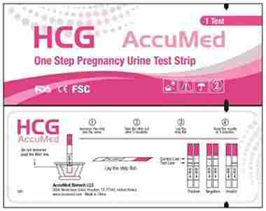 AccuMed 25-Count Pregnancy (HCG) Test Strips