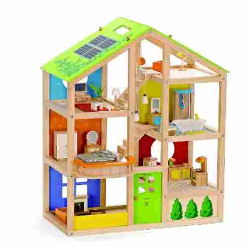 hape all seasons dollhouse wooden toys for kids and toddlers