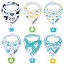 Baby Bandana Drool Bibs and Teething Toys