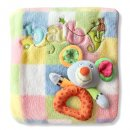 Blanket and Rattle Gift Set by BubbyBabies