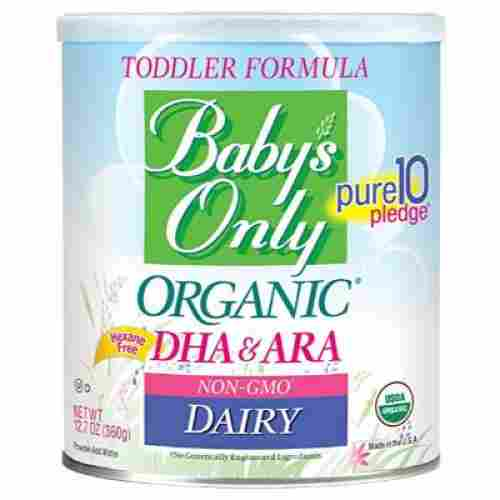 baby's only organic non-GMO dairy baby formula pack