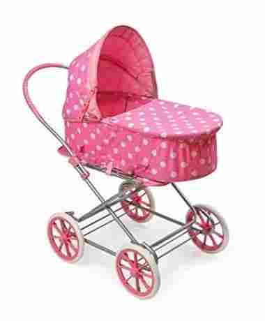 Polka Dot Doll Pram, Carrier, and Stroller