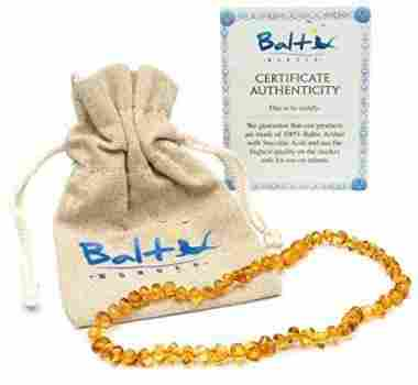 Baltic Amber Teething Necklace For Babies by Baltic Wonder