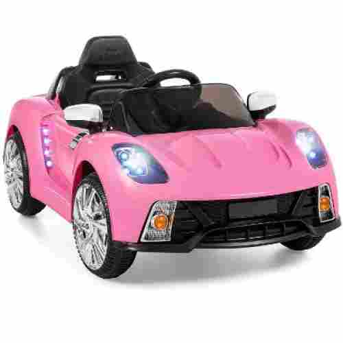 Best Choice Kids Car w/ LED Lights - Pink