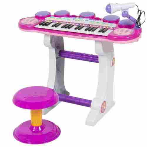 best choice products 37-key kids karaoke machine two piece set