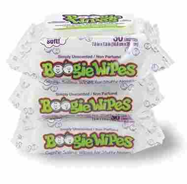 Boogie Wipes Saline Wet Tissues 30 Count (Pack of 3)
