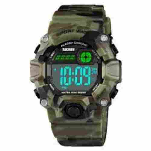 boys camouflage LED sports watch for kids front