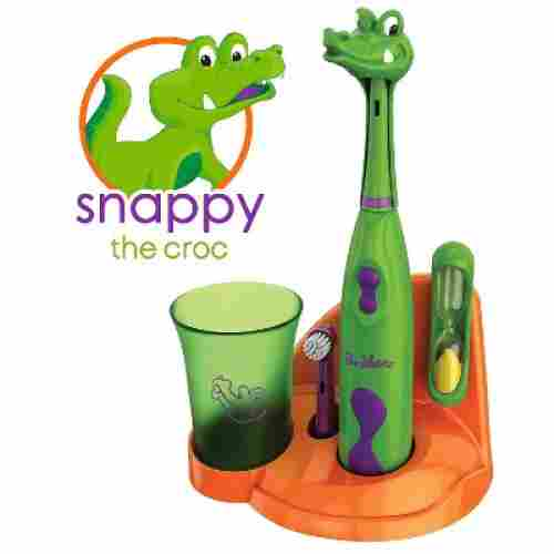 brusheez snappy the croc electric toothbrush for kids and toddlers
