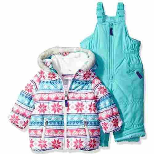 carter's girls' baby snowsuit 2-piece