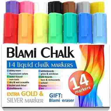 Chalk Markers from Blami Arts. Set of 14