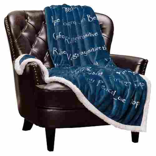 chanasya blanket christmas gift for grandma blue