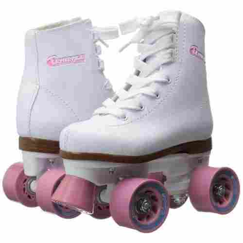 chicago girls rink roller skates for kids white