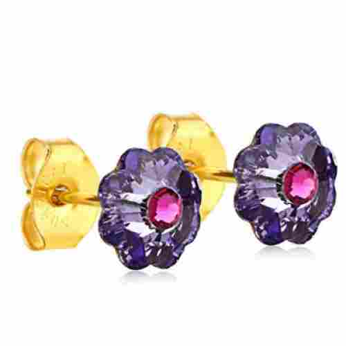 Clecceli Gold-Coated Flower Studs