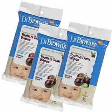 Dr. Brown's Tooth and Gum Wipes