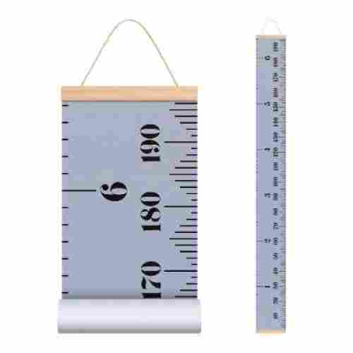 EHZNZIE Canvas Ruler with Wood Frame