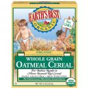 earth's best whole grain organic baby cereal box