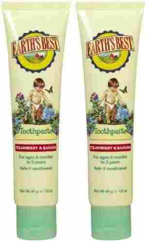 Earth's Best by Jason Toothpaste – Strawberry & Banana