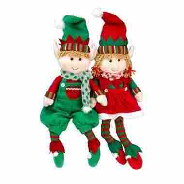 Elf Plush Christmas Stuffed Toys by SCS Direct