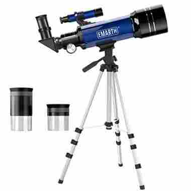 Emarth Telescope, Travel Scope, 70mm Astronomical Refracter Telescope with Tripod & Finder Scope
