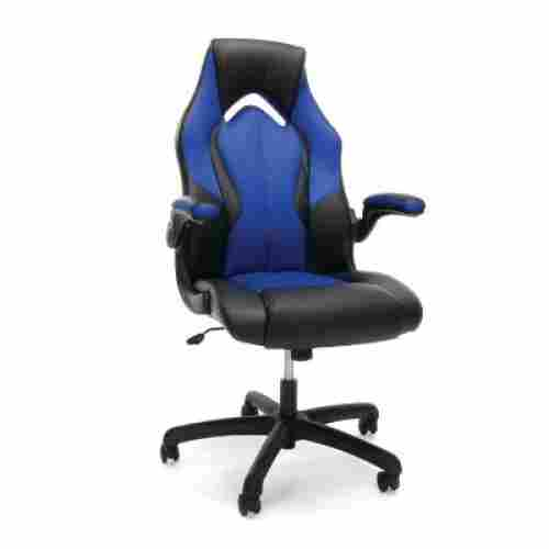 essentials racing gaming chair for kids blue and black
