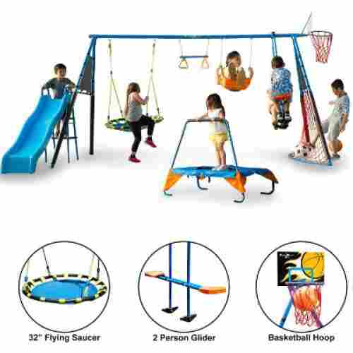 FITNESS REALITY KIDS 'The Ultimate' 8 Station outdoor playset