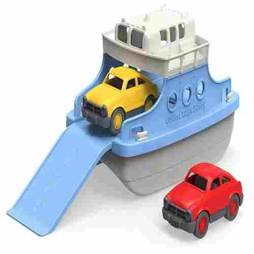 green toys ferry boat toy cars