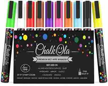 Fine Tip Chalk Markers – Pack of 10