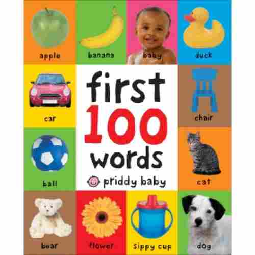 first 100 words board book sensory toy for toddlers cover