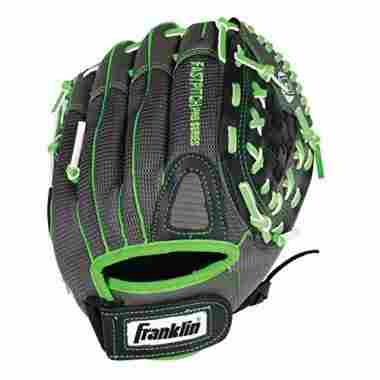 Franklin Sports Fastpitch Series 12-Inch Lightweight Softball Glove, Lime/Gray, Right Hand
