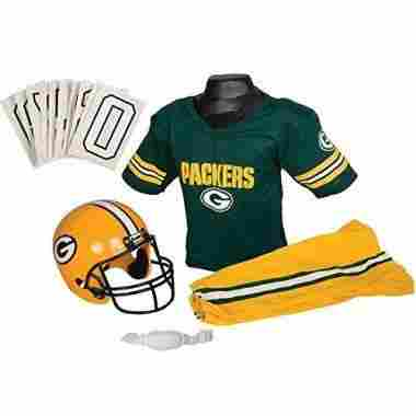 Franklin Sports NFL Green Bay Packers Youth Licensed Deluxe Uniform