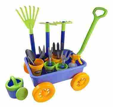 Garden Wagon & Tools Toy Set for Kids with 8 Gardening Tools