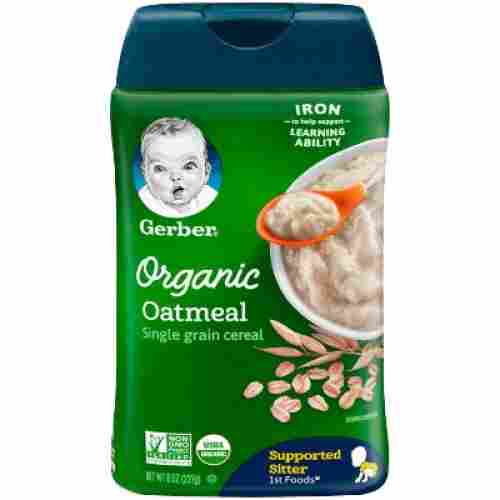 gerber single-grain oatmeal organic baby cereal