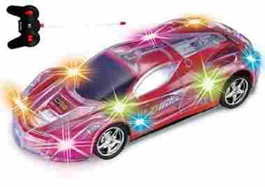 Haktoys Light Up Racing Red 1:24 Scale RC Sports Car