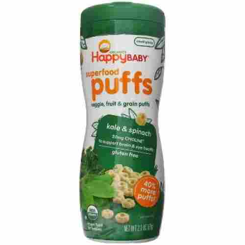 happy baby superfood puffs organic baby cereal