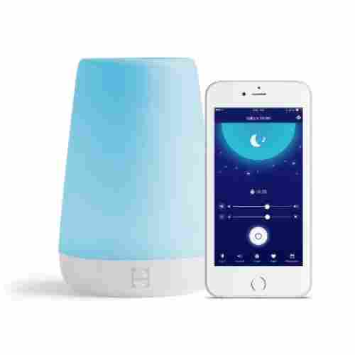hatch night light and time-to-rise sleep sound machines display