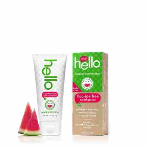 hello oral care fluoride free watermelon toddler toothpaste