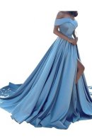 homdor split off shoulder evening prom dress display