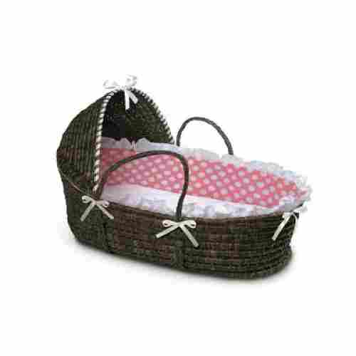 Hooded Moses Basket Polka Dots