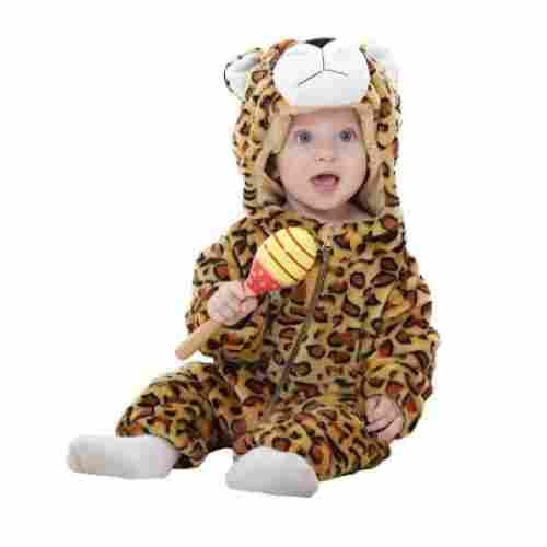 Flannel Cotton Leopard Rompers