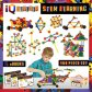 IQ BUILDER STEM Learning Toys Creative Construction