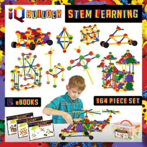 IQ BUILDER STEM Learning Toys Creative Construction erector set